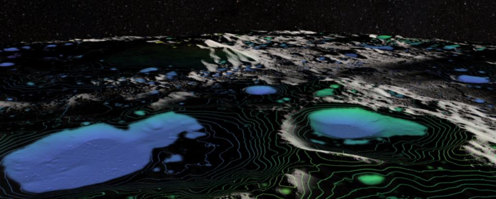 ūdens uz Mēness