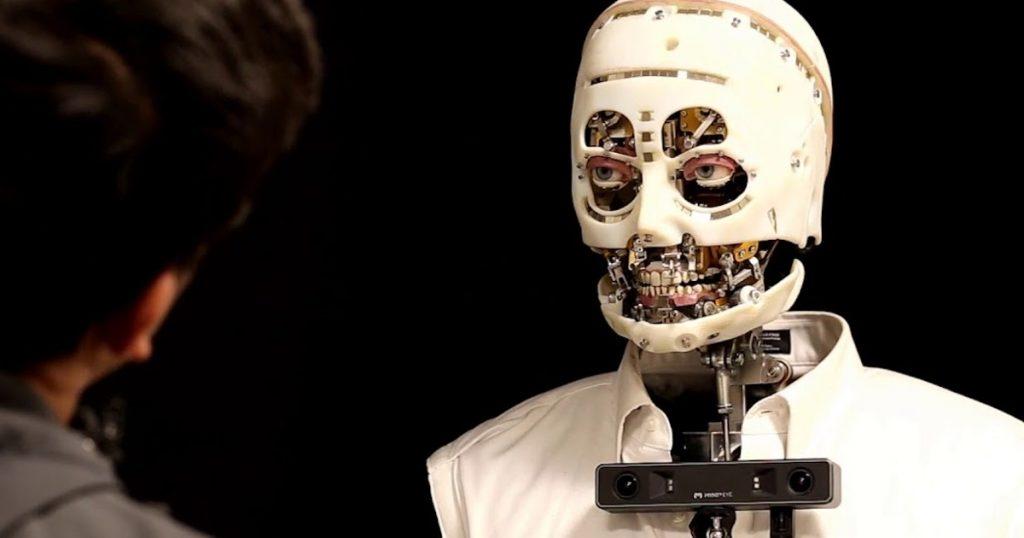 Disney Researc robots, kas var mirkšķināt acis