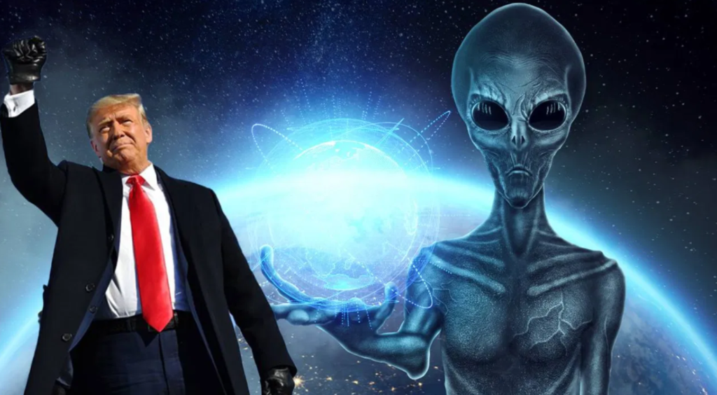citplanētieši un Donalds Tramps