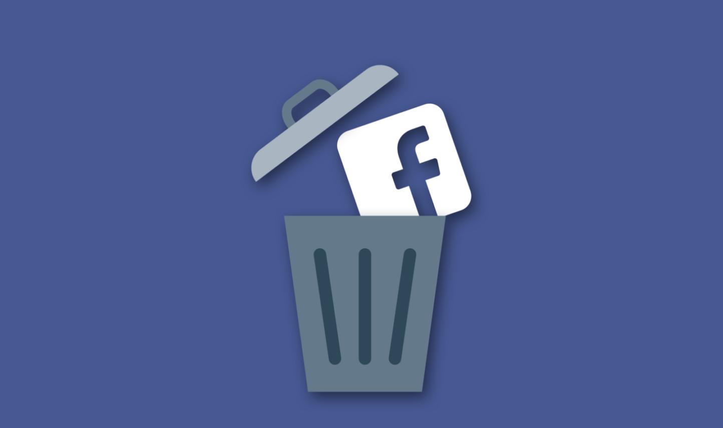 izdzēst facebook