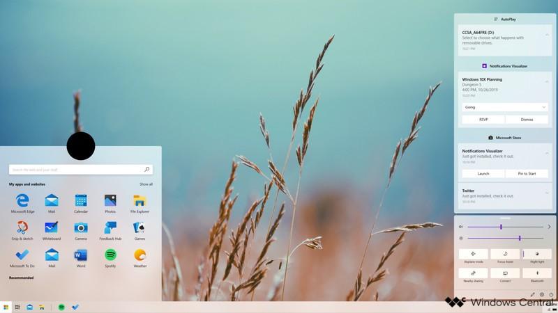 Windows 10X operētājsistēmas funkcijas