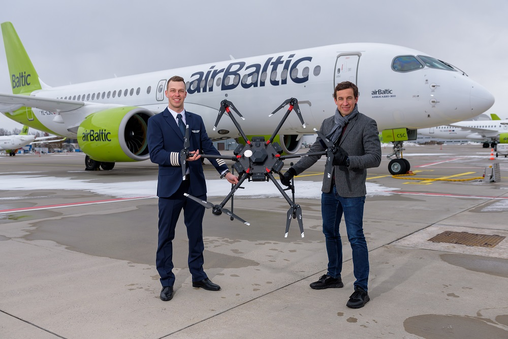 airBaltic un LMT sadarbojas un attīsta dronu inovācijas Latvijā