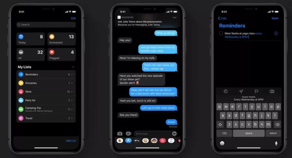 kā uzstādīt tumšo režīmu iOS