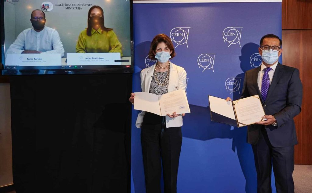 Latvija kļūst par pilntiesīgu CERN asociēto dalībvalsti